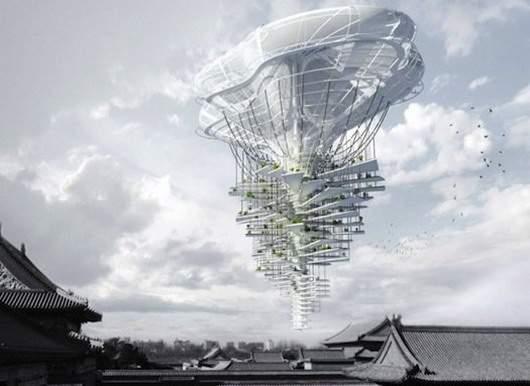 15 потрясающих образов небоскрёбов будущего