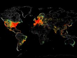 Как выглядит карта всех устройств на планете, подключённых к Интернету
