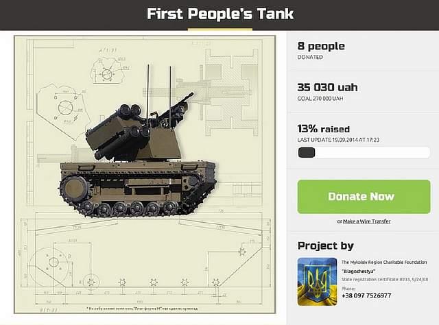 Crowdfund tank in text