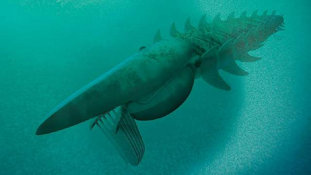 480 миллионов лет назад океаны  бороздил двухметровый лобстер