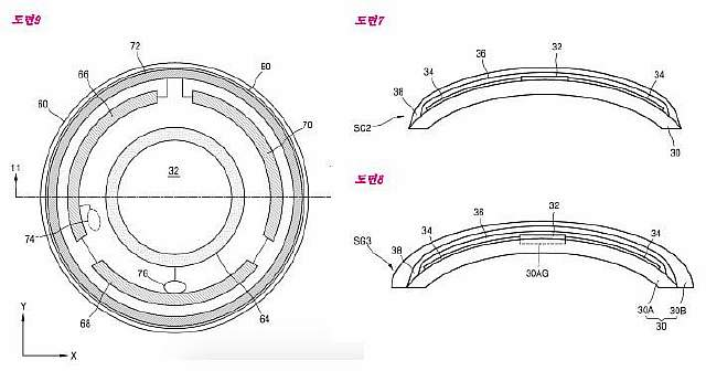 Подпись к изображению: Рисунки из патента на «умные» контактные линзы «Samsung»
