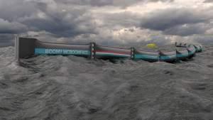 Метровый надувной барьер будет собирать плавающий в океане мусор
