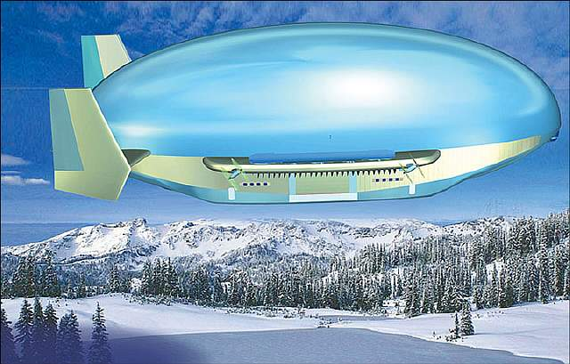 Подпись к изображению: Россия надеется использовать эти управляемые аэростаты для освоения Сибири