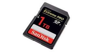 SanDisk создал первую в мире SD-карту в 1 терабайт