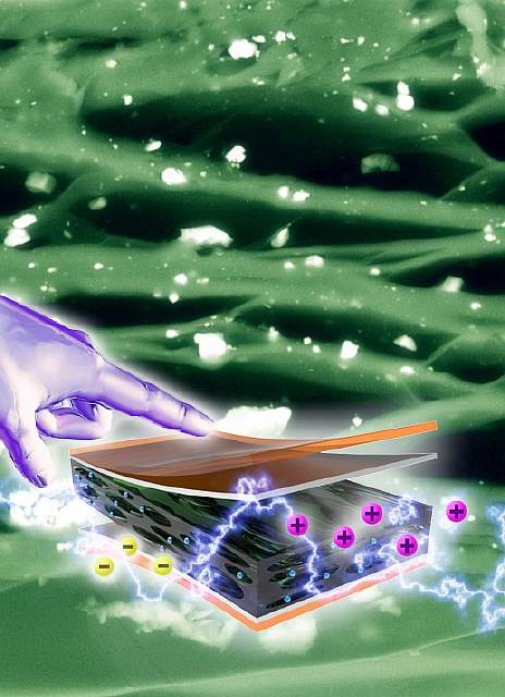 Подпись к изображению: напольное покрытие Pavegen,производящее энергию из человеческих шагов