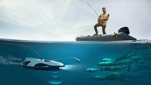 Подводный беспилотник PowerRay выслеживает для рыбаков добычу