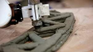 Создание моста из армированного бетона методом 3D-печати