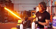 Создан настоящий световой меч, способный резать металл